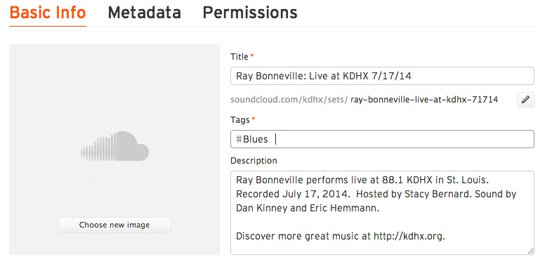Publishing Live Performance Audio to Soundcloud - KDHX
