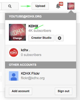 Publishing Videos to YouTube - KDHX Production